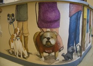 vet clinic dog mural section 2