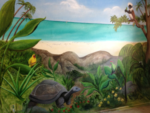 jungle beach mural