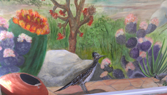 southwest roadrunner mural